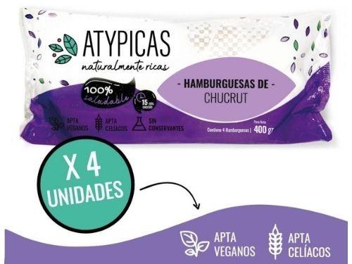 Hamburguesa de chucrut de repollo morado Atypicas x 4U