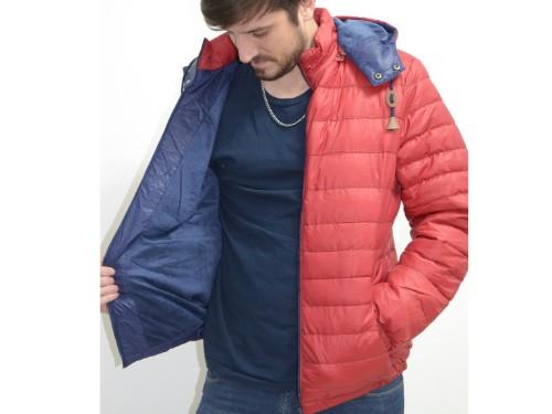 Campera de hombre con abrigo interno en piel y guata. TALLES GRANDES.