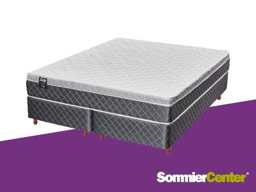 Sommier y colchón Alta Densidad King 160x200x24 Europillow Sealy