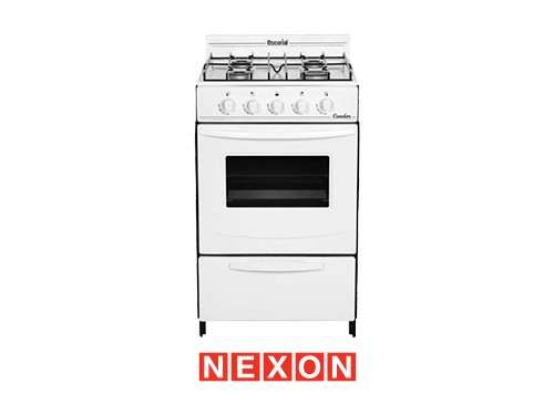 Cocina a Gas 50 cm Blanca Escorial Candro S2