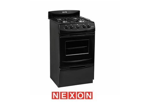 Cocina a Gas 50 cm Negra Escorial Candro S2