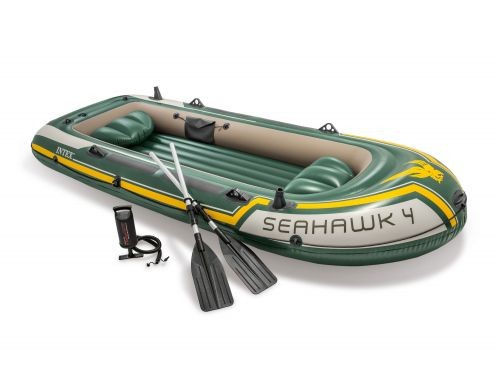 Bote Gomón Inflable Intex Seahawk 4 Set 19591/9