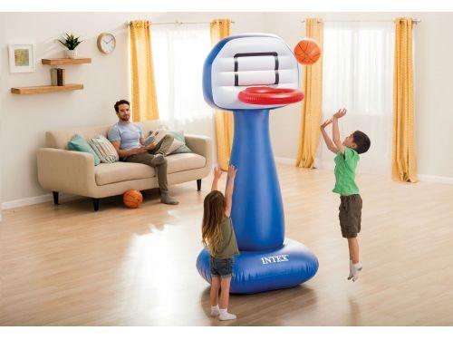 Set Aro De Basket Inflable Intex Con Pelotas 23837/5