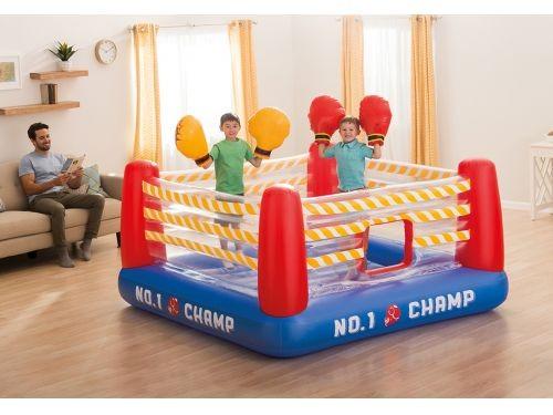 Ring De Boxeo Inflable Saltarín Intex Con Guantes 23830/2