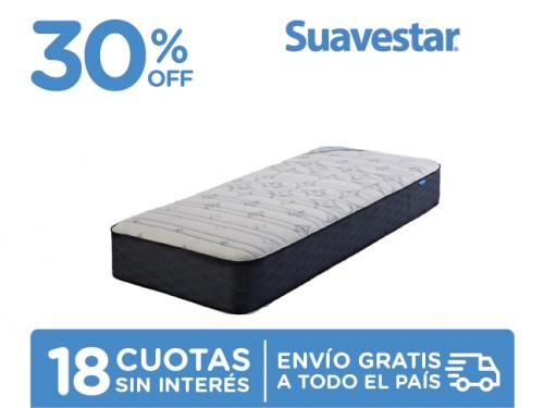 Colchón Suavestar Bluestar 190x80 Resortes 1 Plaza