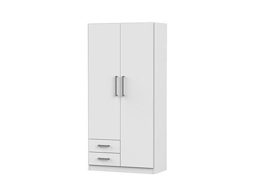 Placard Dielfe 2 Puertas y 2 Cajones Blanco PAC090-B