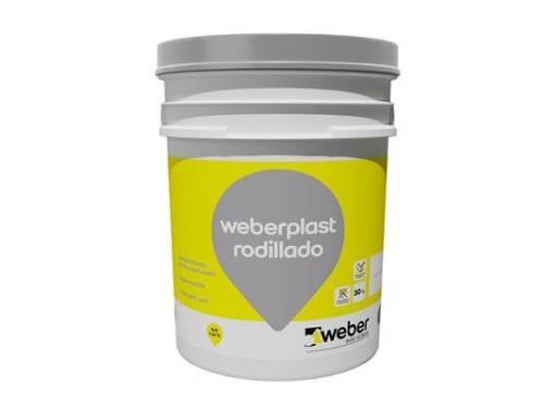 REVESTIMIENTO ACRÍLICO WEBERPLAST WEBER RODILLADO GRIS PLOMO 30KG