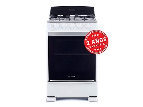 Cocina Multigas 55cm CP6855B Blanca Patrick