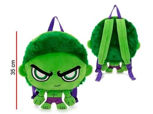 Mochila Peluche Hulk C/luz 35cm Mv041 Phi Phi Toys