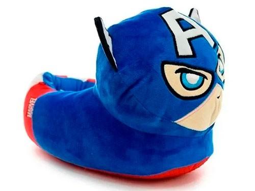 Pantufla Marvel Capitán América Con Luz Talle S Mv049s