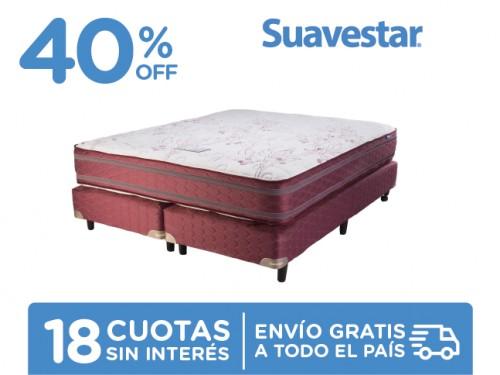 Sommier y Colchón Suavestar Insignia 200x160 Resortes Queen