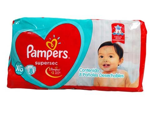 Pañales Bebés Pampers Xg Supersec Regular 8 Un por 10 unidades