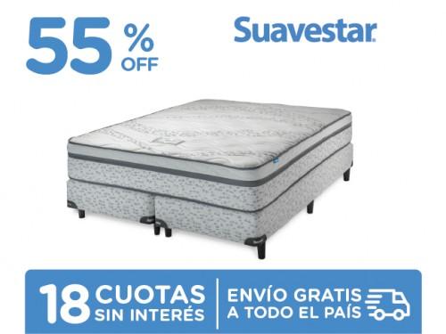 Sommier y Colchón Suavestar Loft 200x160 Resortes Queen