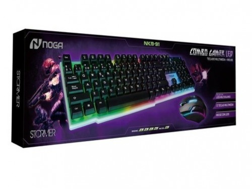 Teclado Y Mouse Kit Gamer Retroiluminado LED USB PcNoga Nkb-91