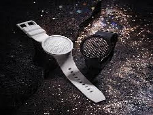 Reloj Swatch Big Bold Light Boreal So27z106 - Swarovski / edicion lim.