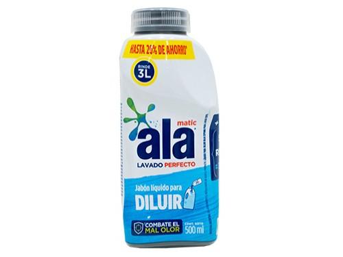 Jabón Líquido Ala para Diluir Botella 500ml por 3 unidades