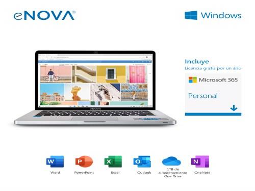 "Notebook 14"" Celeron N3350 + RAM 4GB + SSD 64GB + Windows 10 eNova"