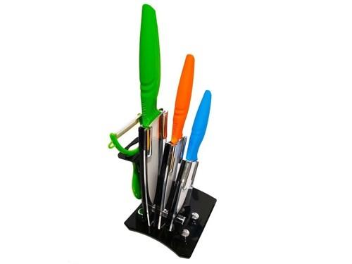 Cuchillos De Ceramica Set 5 Piezas Base Acrilica Hot Sale
