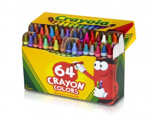 Crayones Crayola de cera x 64 unidades