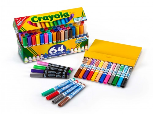 Marcadores Crayola Jumbo x 64 colores