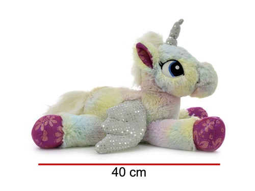 Unicornio De Peluche Interactivo Mueve Alas 40 Cm