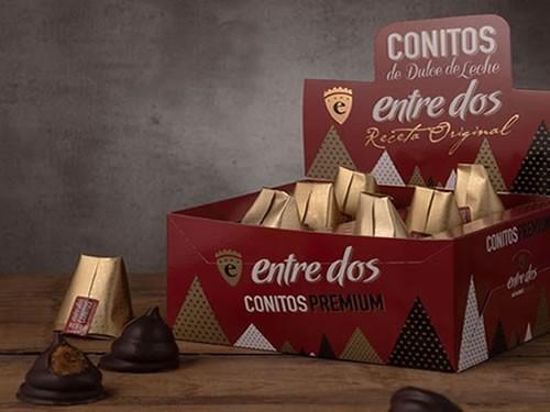 30% OFF Conitos de Dulce de leche con chocolate negro - 15 unidades