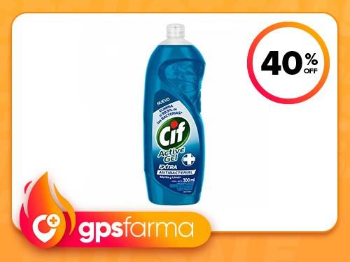 Detergente Concentrado CIF Active Gel Antibacterial 300 ml