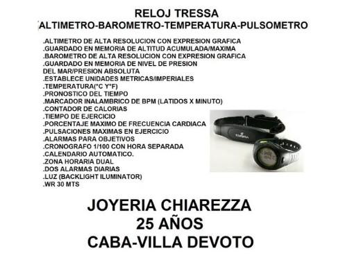Reloj Tressa TREK CARDIO MONITOR BANDA ALTIMETRO BAROMETRO TEMPERATURA