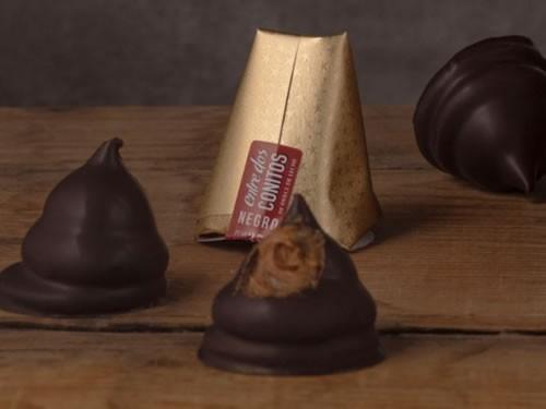 3X2 Conito de chocolate negro con dulce de leche