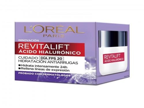 Mascarilla L'Oréal Paris Revitalift Acido Hialulronico x 1 Un