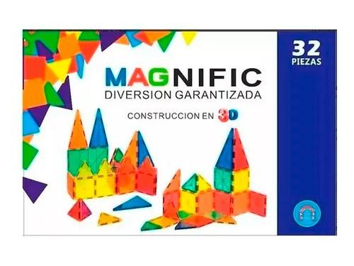 Magnific Bloques Magneticos 32pzs Kbm-32aru