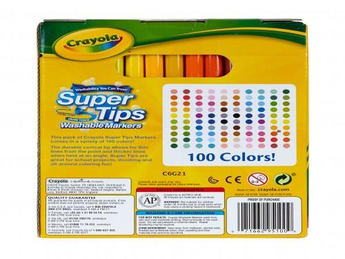 Marcadores Súper Tips Crayola x 100 colores