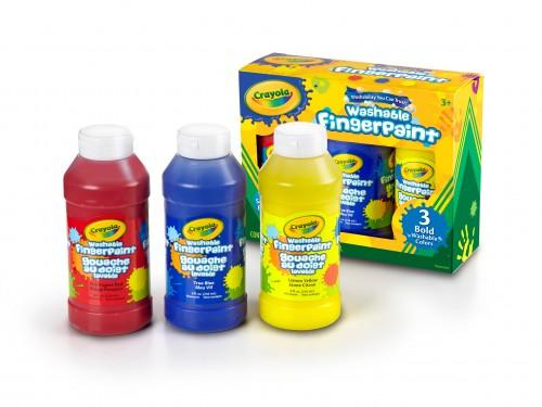 Pintura para dedos Crayola x 3 colores de 236 ml cada uno