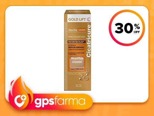 Maquillaje Liquido Cicatricure Gold Lift Medium x30ml