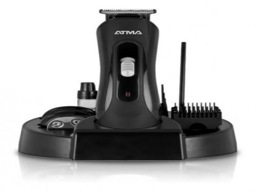 Maquina cortadora de pelo con kit cortabarba atma accesorios y base