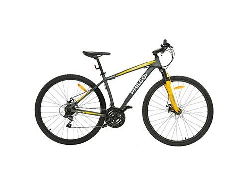 "Bicicleta Mountain Bike Philco Rodado 29"" Gris y Amarillo"