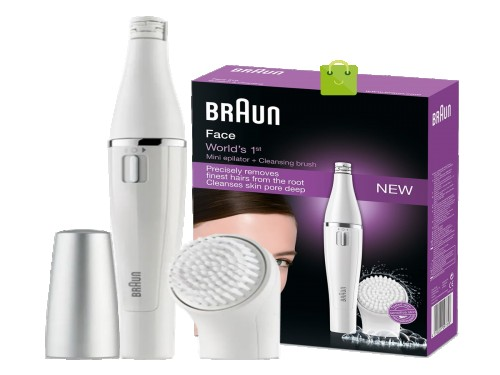 Modelador facial Braun con depilador modelo se810n piel brillante