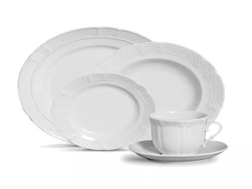 Juego porcelana Vanna Blanco 18 piezas