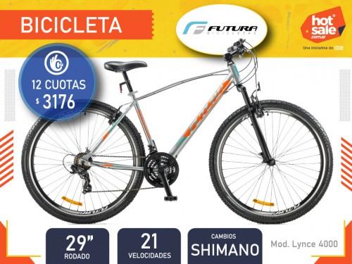 "Bicicleta Lynce 4000 Rod. 29"", 21 vel.,  Suspensión delantera,  Futura"