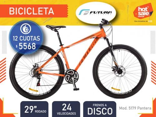 "Bicicleta MTB  5179 Pantera, Rod. 29"", Freno a disco, 24 vel., Futura"