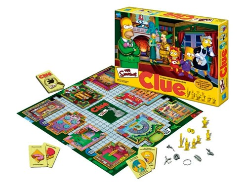 Juego De Mesa Clue Los Simpsons Juego Detectives 9771