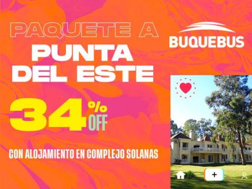 Paquete a Punta del Este - Complejo Solanas 3 noches + Bodega