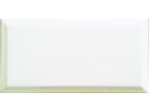 Revestimiento Biselado Blanco Brillante 7,5x15 Cm.