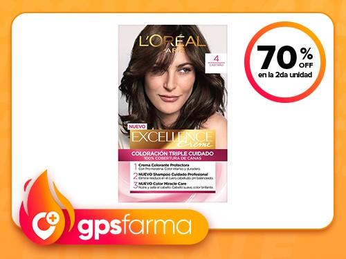 Tintura permanente Excellence Creme de L'Oréal París 4 castaño