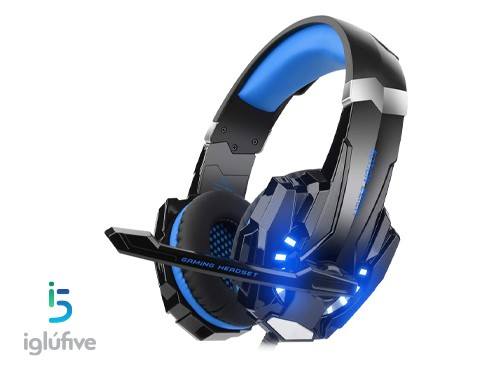 Auricular Gamer Azul LED Kotion Each G9000