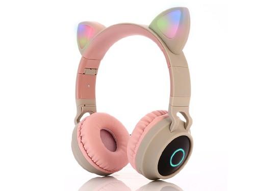 Auricular Bluetooth Vincha Orejas Gatito LED
