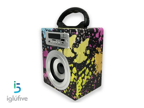 Parlante Inalambrico Bluetooth FM USB Caja Iglufive