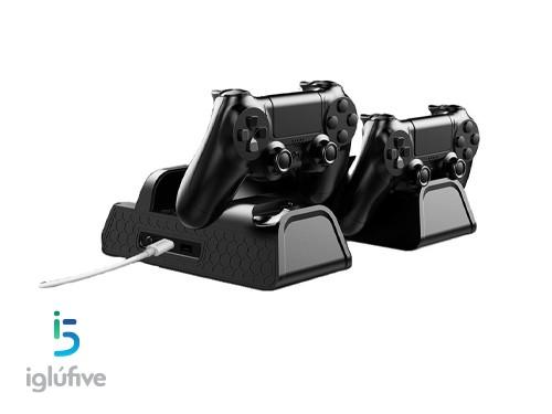 Base de carga soporte PS4 Triple DOBE