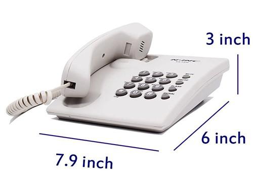 Telefono Fijo Mesa/Pared Blanco/Negro  Con Cable