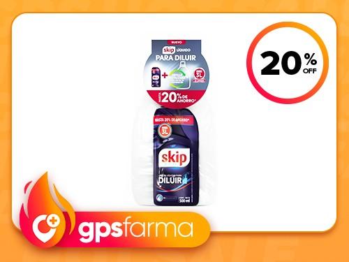 Jabón Líquido Para Diluir Skip pH Balanceado + Botella Gratis 500 ml